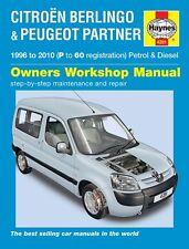 Haynes Manual Citroen Berlingo Peugeot Partner Petrol Diesel 1996-2010 NEW 4281