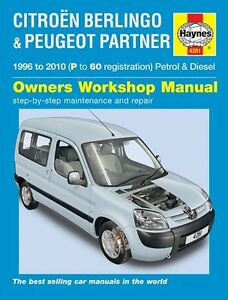 Haynes Manual Citroen Berlingo Peugeot Partner Gasolina Diesel 1996-2010 De 4281