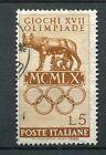 ITALIE 1960, timbre 812, SPORT, JEUX OLYMPIQUES ROME, EMBLEME, oblitéré
