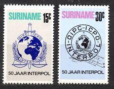 Suriname - 1973 50 years Interpol Mi. 656-57 MNH