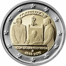 """2 euro commémorative  2018 Italie """"NEUVE UNC"""" constitution"""