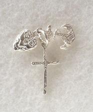 ANCHOR  HEART  CROSS   Hope Faith Charity  .925 sterling silver charm pendant