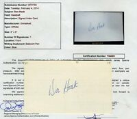 Don Hoak Rare 55 Dodgers Signed Jsa Certified 3x5 Index Card Authentic Autograph