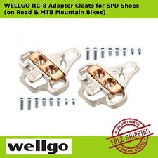 Wellgo RC8 SPD Shoes Adapter Cleats for Shimano (includes hardware) -Silver, NEW