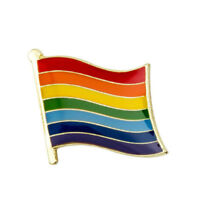 GAY PRIDE CURVED FLAG Enamel Pin Badge Brooch Fashion Gift Jewellery LGBT PN34