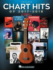 CHART HITS 2017 - 2018 Ukulele Book *NEW* Music 17 Songs