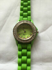 Geneva Legend Green Dial Ladies Quartz Watch