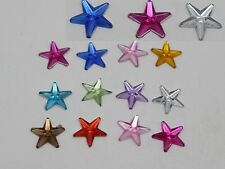 500 Mixed Color Acrylic Flatback Star Rhinestone Gems 10mm DIY Embellishments