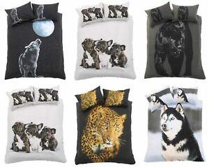 3D Animal Print Design Duvet Quilt Cover+Pillowcase Cover Bedding Set
