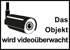 1 Aufkleber Etikett Das Objekt wird videoüberwacht Haus 14,5 x 10 cm