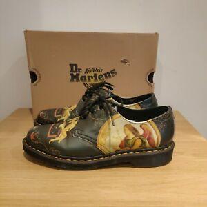 Dr Martens 1461 Di Paolo Black Backhand Shoes Museum Artist Art UK 9 EU 43 US 11