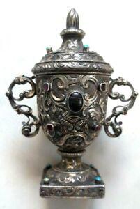 Antica anforetta barocca epoca 1700 in Argento massiccio