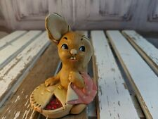 vtg vintage Pendelfin statue made England rabbit bunny pieface pie