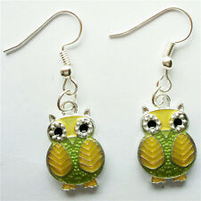 Hot !1 pair  Women Ornament Accessories Charm Jewelry silvery Owl Earring #89