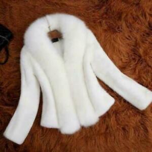 Womens Thicken Faux Fur Collar Parka Coat Wedding Outwear Winter Warm Jacket New