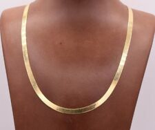 High Polished Herringbone Necklace Chain 10K Solid Yellow Gold 5.00mm ALL SIZES