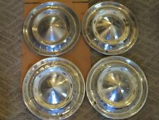 "GENTLYUSED SET/FOUR 1955 CHEVROLET 15 "" WHEELCOVER SET/CLEAN SHARP LOOKING/SOLID"