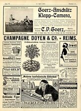 C.P. Goerz, Berlin- Friedenau Klapp- Camera C.E. Ziegler, Erfurt Kartoffeln 1902
