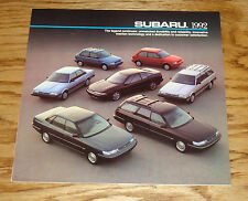 Original 1992 Subaru Full Line Sales Brochure 92 SVX Legacy Loyale Justy