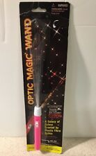 "Magic Wand Pen Fiber Optic Glow Lighted Vintage Pink Galaxy NIB 14"" Toy"