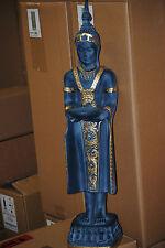 Buddha Groß 74 cm Blau  Gold Feng Shui Statue  Figur Garten Deko Wetterfest