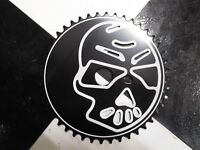 1 New Black SKULL 44 Tooth Bicycle SPROCKET fits GT Mongoose BMX Bike