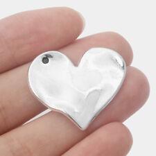 4 x Tibetan Silver Large Love Heart Shape Charms Pendants Necklace Gift 33x24mm