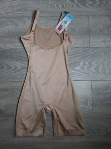 Assets By Spanx Silhouette Serums Open-Bust Mid-Tigh Body-Shaper Size S Nude1647