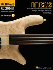 Fretless Bass Bass Guitar Learn to Play Teacher MUSIC BOOK & ONLINE AUDIO