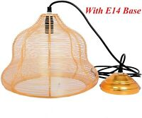 Ceiling Pendant Light Lamp Shade Cage & Fitting Style Vintage Retro Copper Wire