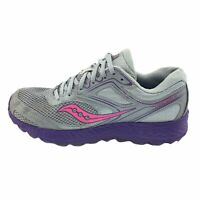 Saucony Womens Cohesion 12 Low Top Lace Up Grid Gray Running Shoes Size US 8