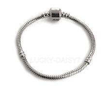 Wholesale Fashion Silver Snake Chain Bracelet Fit European Charm Beads 16cm