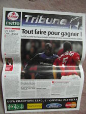 2.11.2005 LOSC (LILLE) V MAN UTD CHAMPIONS LEAGUE TRIBUNE EDITION EN FRANCAIS