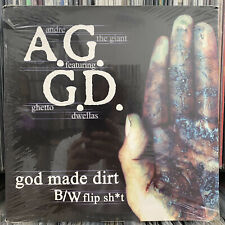 "A.G. + GHETTO DWELLAS - GOD MADE DIRT / FLIP SH*T (12"") 2001!!  RARE!!  D.I.T.C."