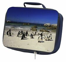 Beach Penguins Navy Insulated School Lunch Box Bag, AB-89LBN