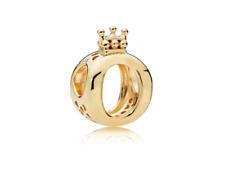 925 Sterling Silver SHINE Crown O Charm Pandora Bead COLOR gold