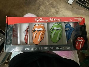 Rolling Stones 4-Pack Collector's Series Pint Glasses Set NEW