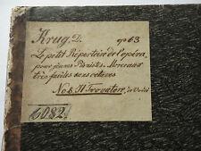 1856 Trovatore Verdi L'Opera pour jeunes Pianistes D.KRUG Pianoforte Sheet Music
