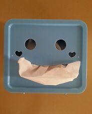 Blue Smiley face tissue box
