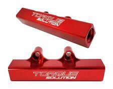 Torque Solution Top Feed Fuel Rails Red Fits Subaru WRX STI LGT FXT