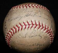 1934 Detroit Tigers Signed Official AL Ball Greenberg Cochrane Goslin Gehringer