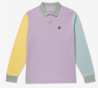 NWT Teddy Fresh Colorblock Pastel Long Sleeve Polo Shirt Unisex Size M ...12