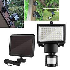 60 LED Solar PIR Motion Sensor Security Garden LED Flood Spot Light Outdoor Lamp