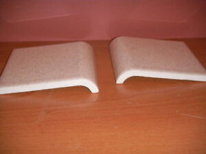 American Olean Glazed Ceramic Tile 4 ¼ Off White Flecks /Speckles Edge Bullnose