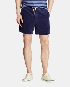 """POLO RALPH LAUREN Mens SZ M Classic Fit 6"""" Prepster Corduroy Shorts preppy blue"""
