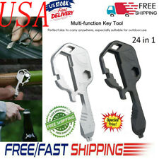 Multi-Tool 24IN1 Key Shaped Pocket Tool For Keychain w/Bottle Opener Portable US