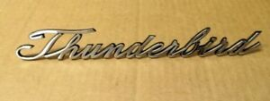 1965 1966 1967  Ford Thunderbird New Rear Quarter Panel Script Emblem Name plate