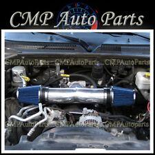 BLUE 2002-2007 DODGE RAM 1500 PICKUP 3.7L 4.7L V8 DUAL TWIN AIR INTAKE KIT