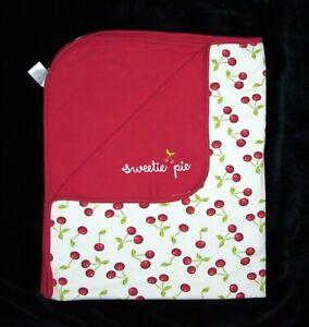 Gymboree Red Sweetie Pie Cherry Baby Blanket Security Cotton 2009