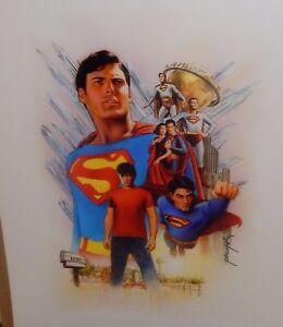 JASON PALMER SUPERMAN THRU THE YEARS HAND SIGNED GLOSSY POSTER
